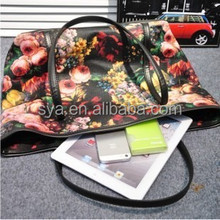 Fashion vintage flower printing european shoulder bag for women