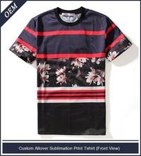 Venta al por mayor a granel de su propia marca de ropa( allover de impresión t- shirt)