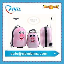 Pink Pig Models Fashionable Kids Hard Shell Luggage