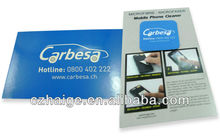 promotional custom mobile phone screen cleaner / wipe stickers