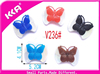 2015 Hot sale crystal butterfly bow decoration ladies shoe buckles