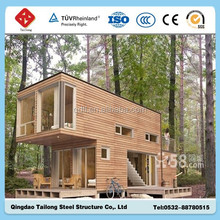 2015 new style beautiful container house with wood