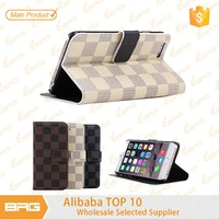 BRG 2015 New Arrival Stand Flip Leather Wallet Case For i Phone6 with Card Holder