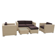 2015 White rattan sofa set relax used outdoor furniture