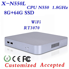 Desktop Pc Mini Computer N550 8g Ram 64g Ssd Laptop Gaming PC Support Ubuntu/Window 8.1/7/XP Thin Client