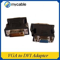 Factort price 24k gold plated adapter male to female DVi to rj45 to vga adapter