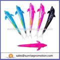 pequeño delfín forma de dibujos animados de la pluma para el regalo promocional para el estudiante