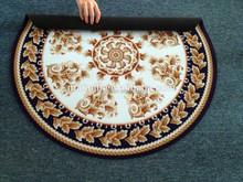 durable waterproof anti slip natural rubber floor mat round shape