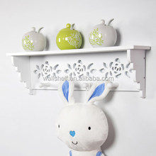 Elegant hollow carved diy small plastic wall cube shelf