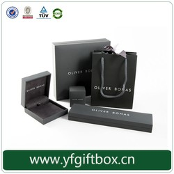 Luxury custom logo paper packaging bags for jewelry