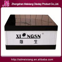 led Plastic display, MX6266 counter cosmetic Plastic display cube