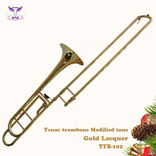 Brass musical instrument midified tenor trombone made in China