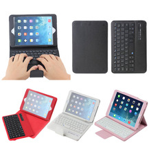 factory price detachable bluetooth keyboard case litchi design leather tablet case cover for ipad mini 1/2/3