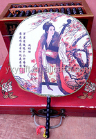 chinese beauty fan advertising fan china classical gift round fan