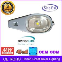 Professional design High Lumen waterproof IP65 30W, 40W, 50W, 60W meanwell driver 2 years warranty led street light