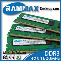 Rammax unbuffered DDR3 4GB 1600MHz pc3-12800 desktop PC ram memory module memoria for Acer