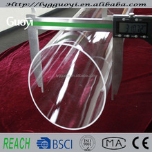 Clear quartz glass tube with good thermal stability