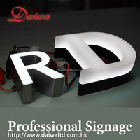 Front-lit LED Stainless-Steel Letters Sign