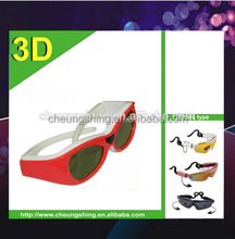Hot sale OEM printing active shutter bluetooth TV transmitter 3D glasses for TV