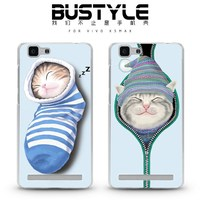 The latest animal design for vivo X5Max X5L phone case with cute cat by high quality soft silicone material