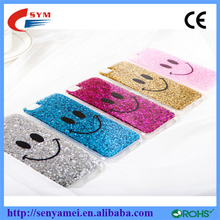 China wholesale ! TPU Bling Phone Case Cover For iPhone 6 smiling face Glitter Case colorful