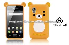 2012 hot sale lovely promotion mobile case and covers with 100% eco-friendly silicone fashion cartoon design