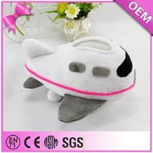 Plane Shape Soft Mobile Phone holder Socket Custom plush toy