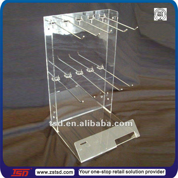 Retail Store Clear Acrylic Hook Standpeg Hook Counter Display Simple Plastic Counter Display Stands