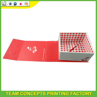 China gift paper foldable box with logo custom
