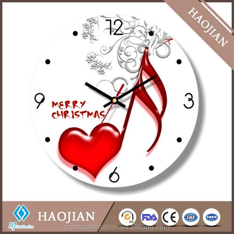 hot new products for 2015 sublimation blank glass wall clock