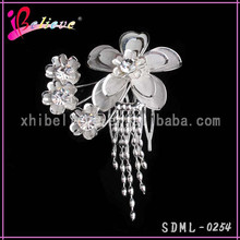 Factory direct wholesale hair jewelry diamond jewelry hair fork comb for ladies (SDML-0254)
