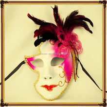 Halloween full face upscale Venice mask of pure handmade rave party