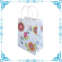 kraft paper shopping bag, flower paper bag design
