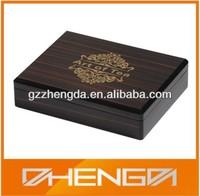 Hot!!! Customized Made-in-China Elegant Wooden Grain Precious Packaging Logo Printing Tea Gift Box (ZDW13-T024)