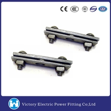Pole Line Hardware Electric Power Fitting Galvanized Drop Forged Steel 3 Bolt Cable Clamp Suspension Clamp