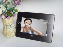 Multi-function, mirror panel,round angel 7 Inch best digital photo frame price
