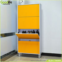Goodlife ready to assemble 4-layer wooden shoe rack