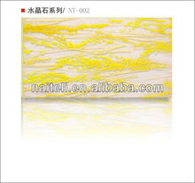 Interior Shower Partition Backlit Decorative Resin Wall Panel with Thatch