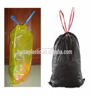2015 Hot SEAL High quality plastic cheap colored drawstring garbage/trash bag