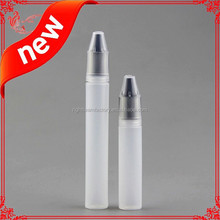 New designed pen shape unicorn bottle with translucent black childproof cap for e cig/e liquild