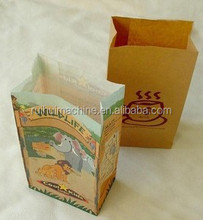 Food Striped Brown Paper Bag Making Machine Price production line
