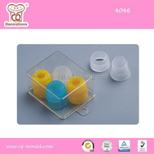 Colorized nozzle coupler, useful cake decorating accessories
