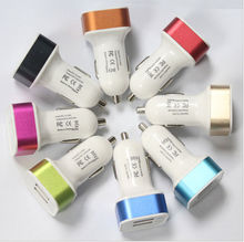 2015 hotsale electronic products 5V 3.1A Portable Mobile Phone Dual USB Car Charger