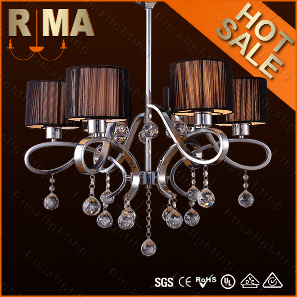 2014 Modern style hot sell crystal chandelier RM9038-8 for home decoration