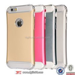 brand new for iPhone6 TPU+metal shock proof phone case