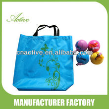 PE ball foldable shopping bag