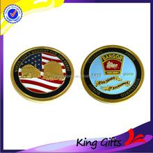 Custom metal country 3D gold souvenir challenge coin