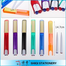 Creative 3 in 1 multi-function plastic pen with sticker