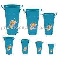 painted zinc flower bucket/plants pot