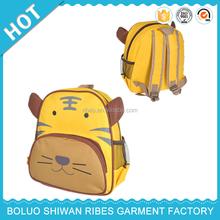 New Arrival animal design baby boys Canvas 2015 school bag, school bag making material